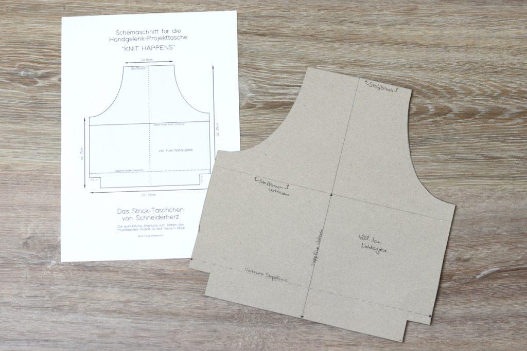 Schemaschnitt und Pappschablone