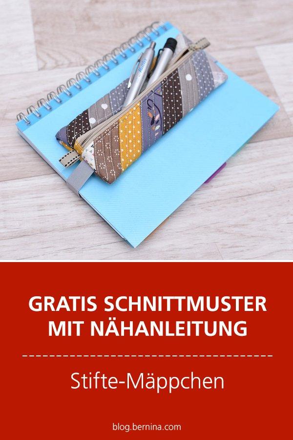 Gratis-Schnittmuster & Nähanleitung: Stiftemäppchen