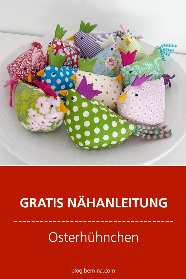 Gratis-Schnittmuster & Nähanleitung: Oster Hühnchen