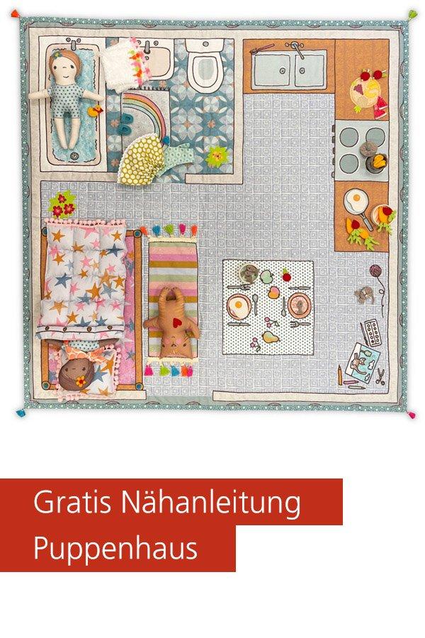 Gratis-Schnittmuster & Nähanleitung: Puppenhaus