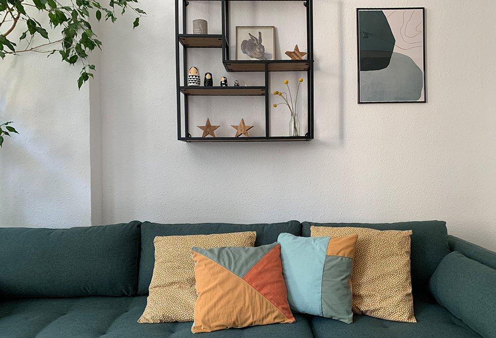 Sofakissen auf Sofa