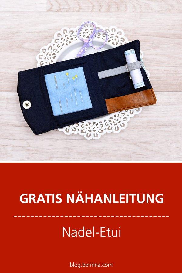 Gratis-Schnittmuster & Nähanleitung: Nadel-Etui