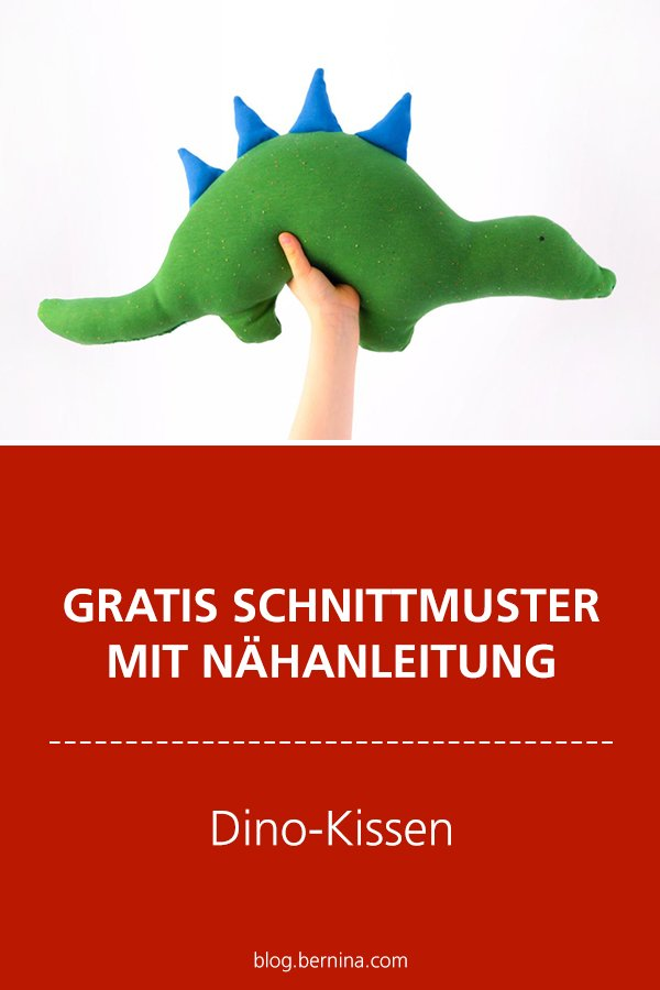 Gratis-Schnittmuster & Nähanleitung: Dino-Kissen