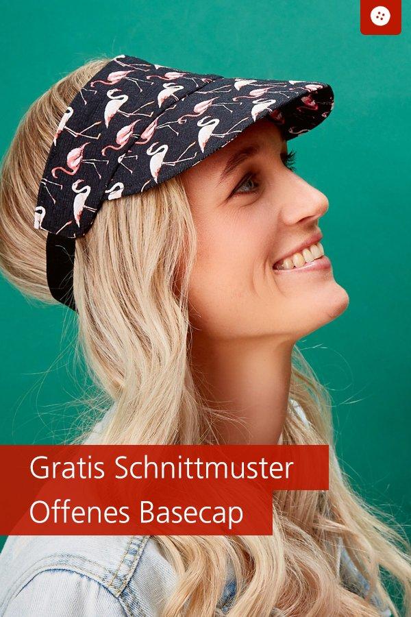 Gratis-Schnittmuster & Nähanleitung: Offenes Basecap (Visor)
