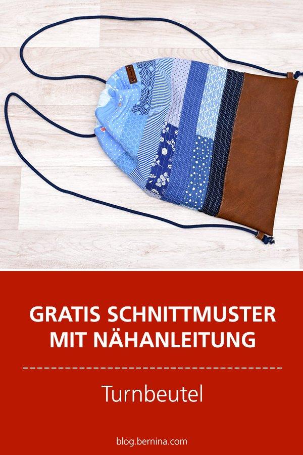 Gratis-Schnittmuster & Nähanleitung: Patchwork-Rucksack / Turnbeutel