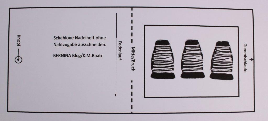 Schablone Nadelheft