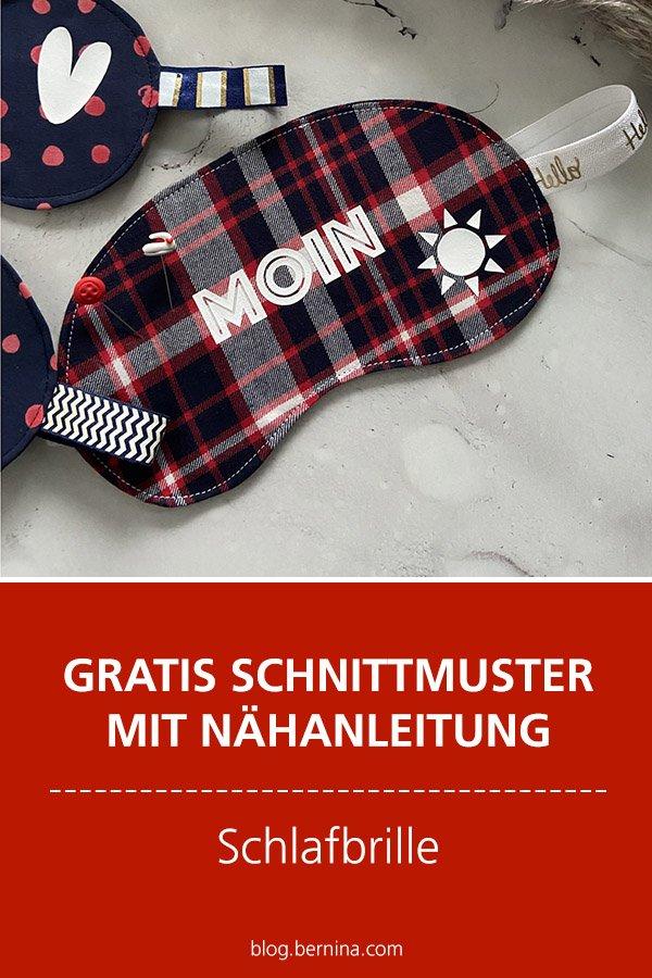Gratis-Schnittmuster & Nähanleitung: Schlafbrille
