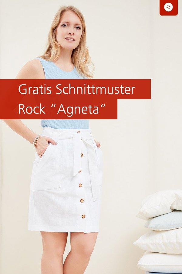 "Gratis-Schnittmuster & Nähanleitung: Rock ""Agneta"""