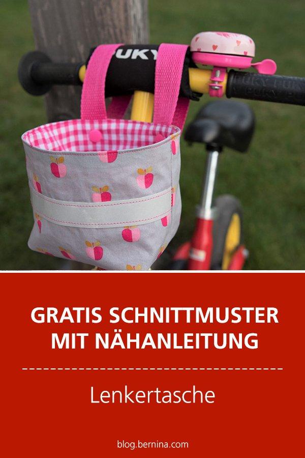 Gratis-Schnittmuster & Nähanleitung: Lenkertasche