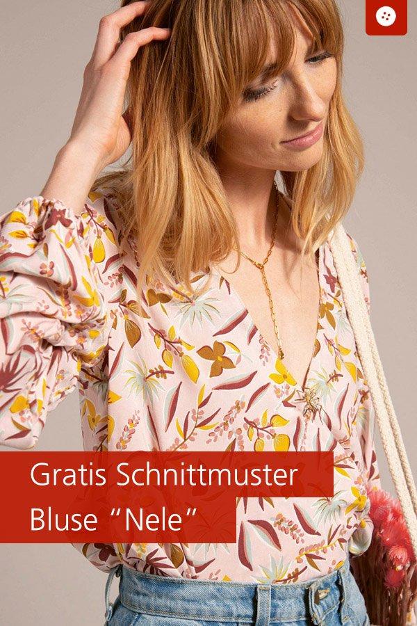 "Gratis-Schnittmuster & Nähanleitung: Bluse ""Nele"""