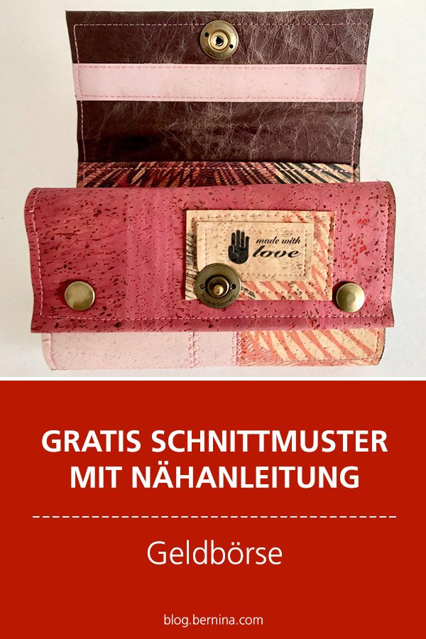 Gratis-Schnittmuster & Nähanleitung: Damen Geldbörse / Portemonnaie