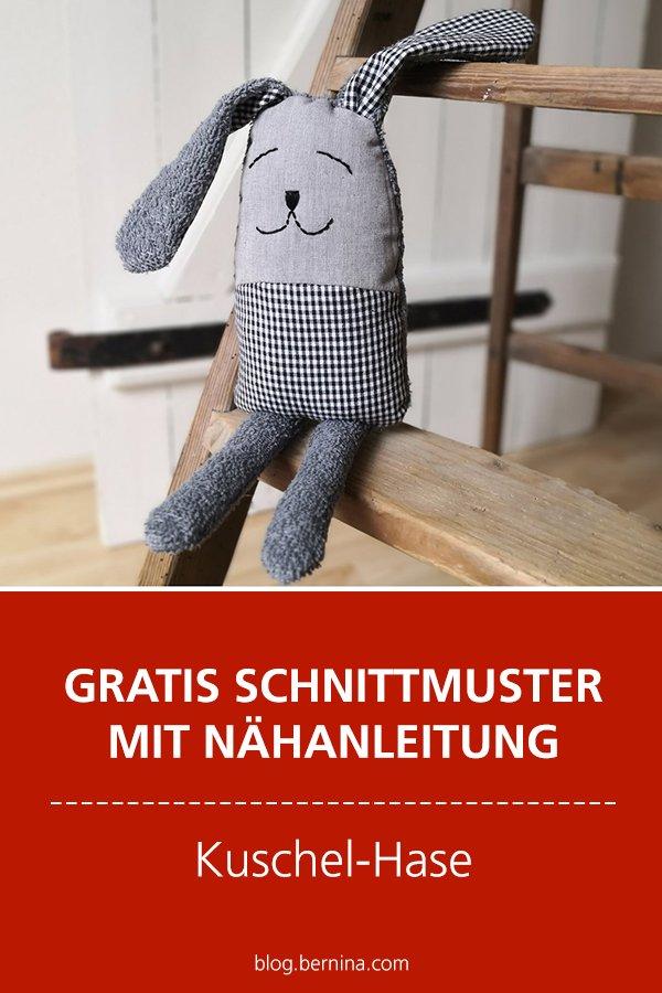 Gratis-Schnittmuster & Nähanleitung: Kuscheltier Hase
