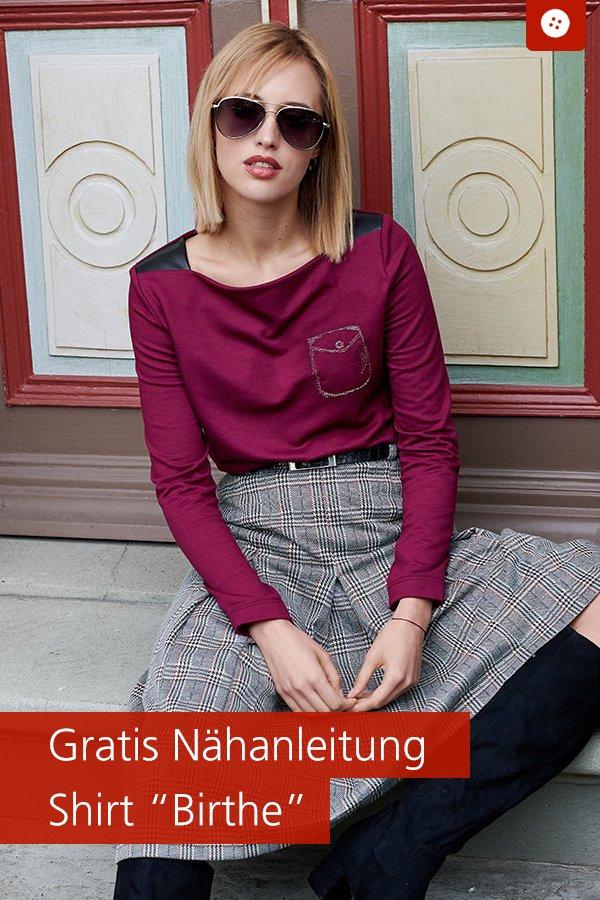 """Gratis-Schnittmuster & Nähanleitung: Shirt """"Birthe"""""""