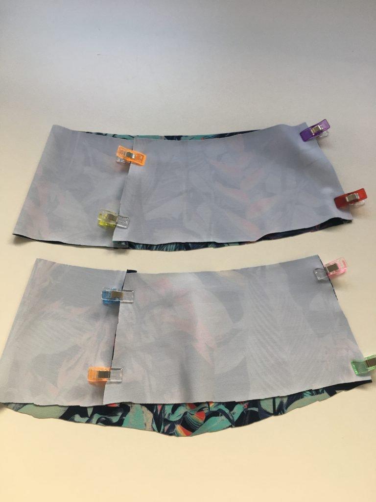 zusammengesteckte Hosenbunde