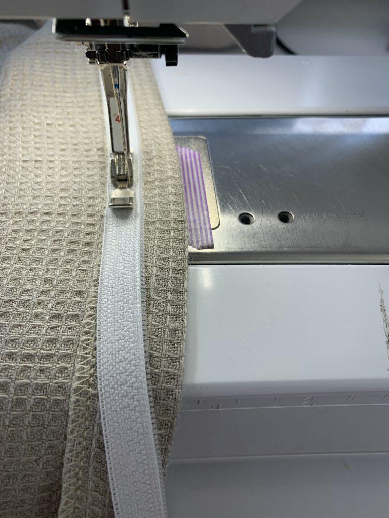 Reissverschluss nähen für Patchwork-Tasche