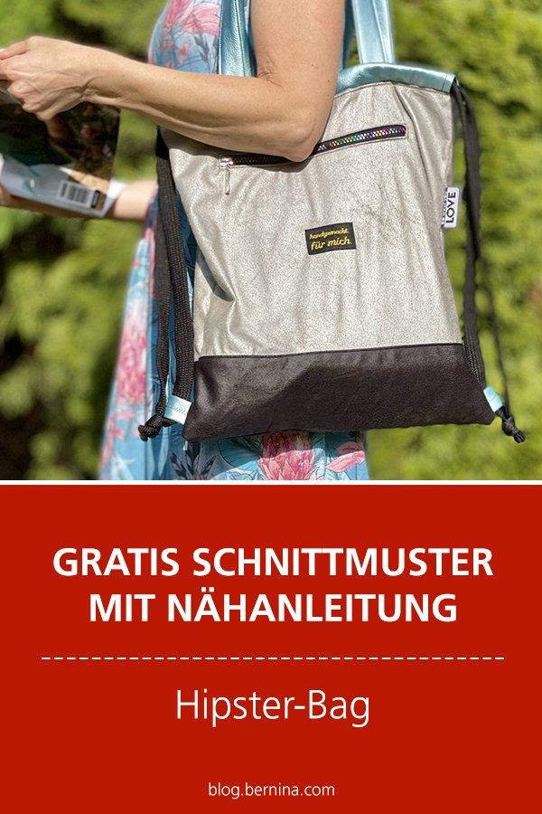 Gratis-Schnittmuster & Nähanleitung: Hipster-Bag