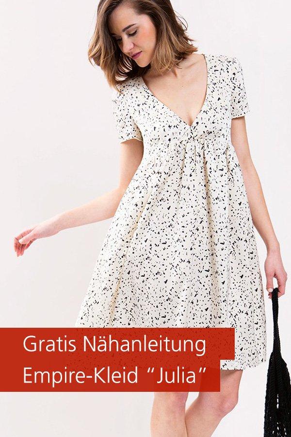 """Gratis-Schnittmuster & Nähanleitung: Empire-Kleid """"Julia"""""""