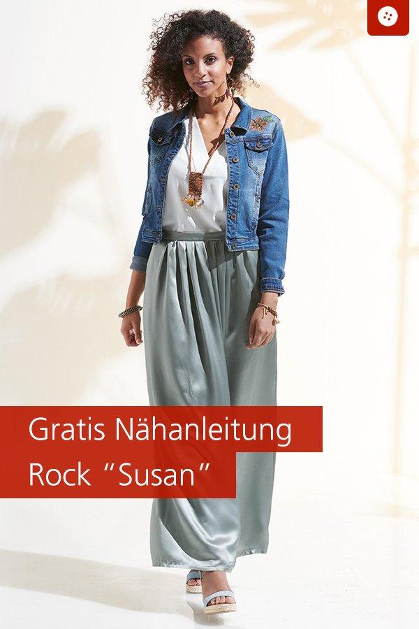 "Gratis-Schnittmuster & Nähanleitung: Rock ""Susan"""