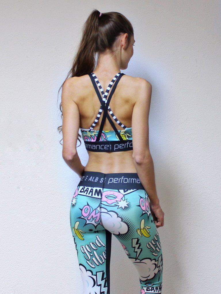 Sportbustier Rückenansicht