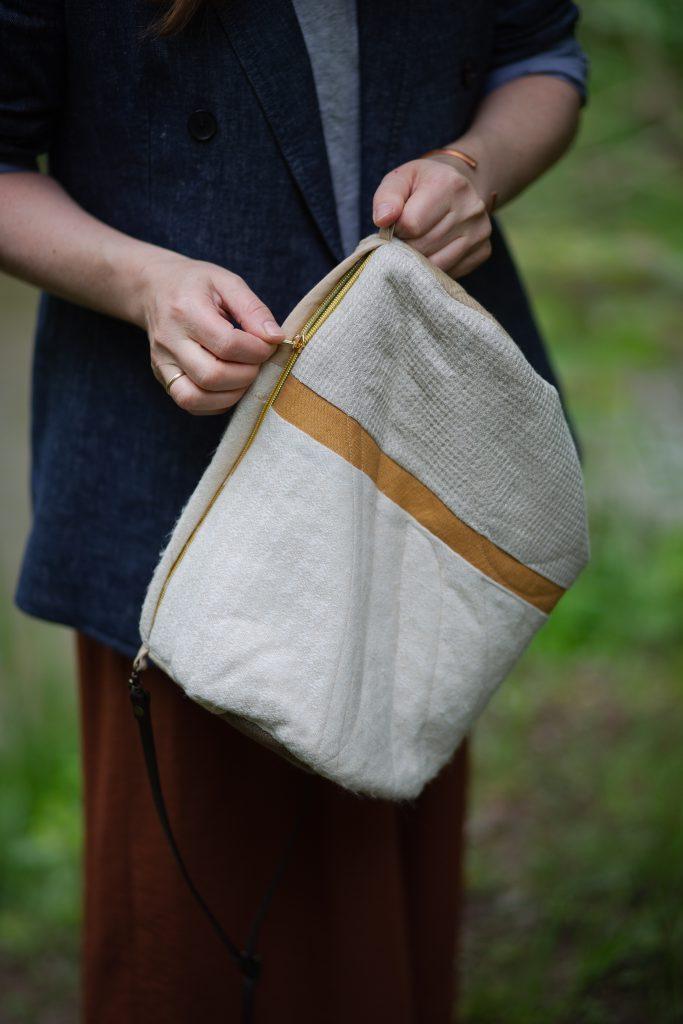 Patchwork-Tasche nähen mit Reissverschluss