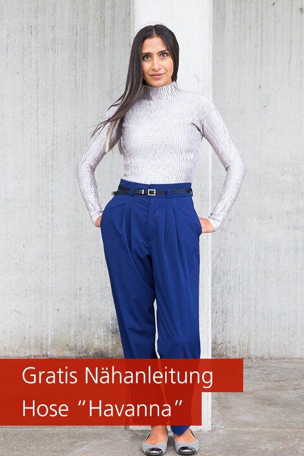 "Gratis-Schnittmuster & Nähanleitung: Hose ""Havanna"""
