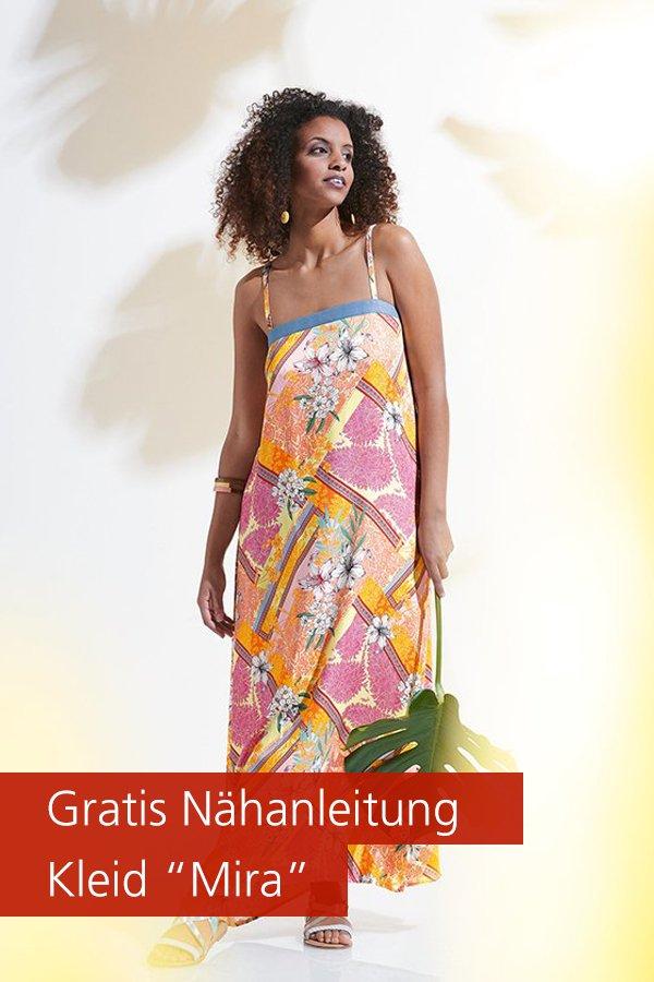 """Gratis-Schnittmuster & Nähanleitung: Kleid """"Mira"""""""