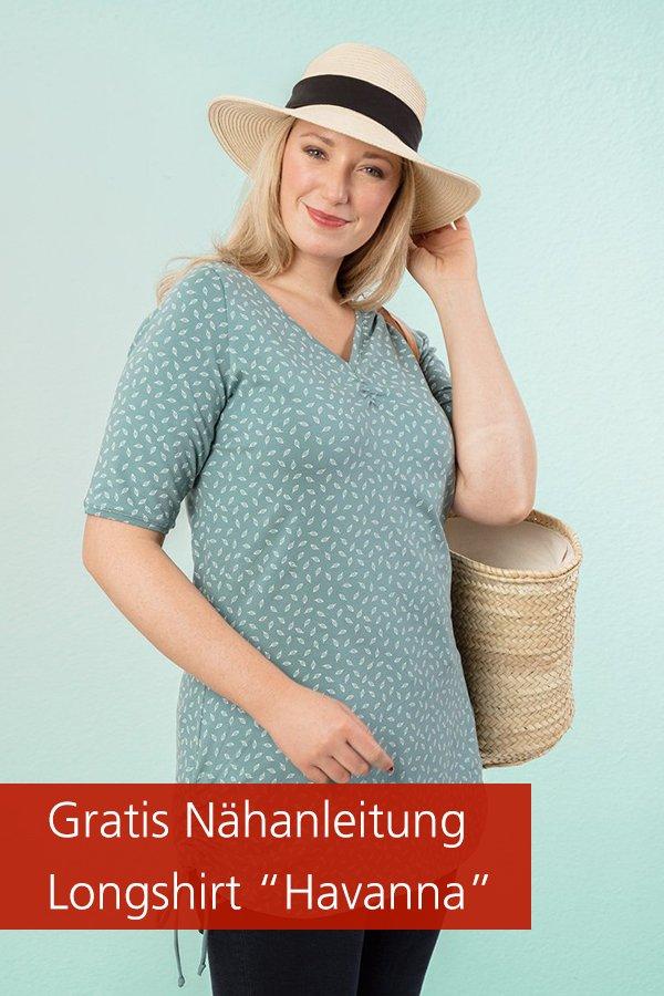 """Gratis-Schnittmuster & Nähanleitung: Longshirt """"Havanna"""""""