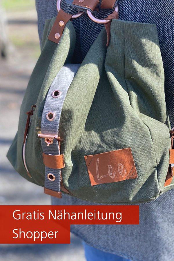 Gratis-Schnittmuster & Nähanleitung: Shopper