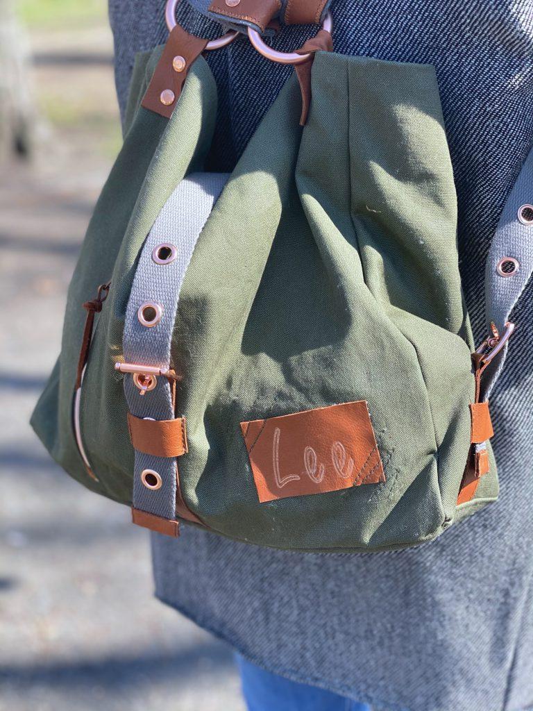 Nähanleitung für einen Shopper, der sich auch als Rucksack tragen lässt