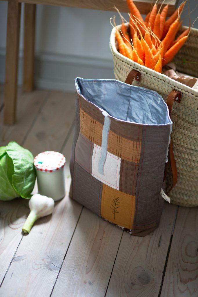 Design-Kühltasche nähen als Upcycling-Projekt