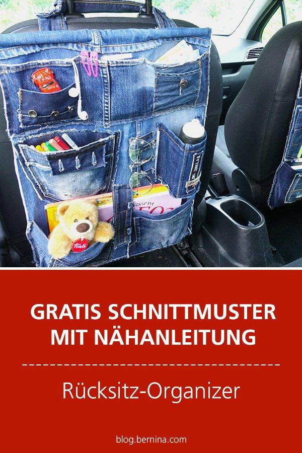 Gratis Nähanleitung: Rücksitz-Organizer fürs Auto