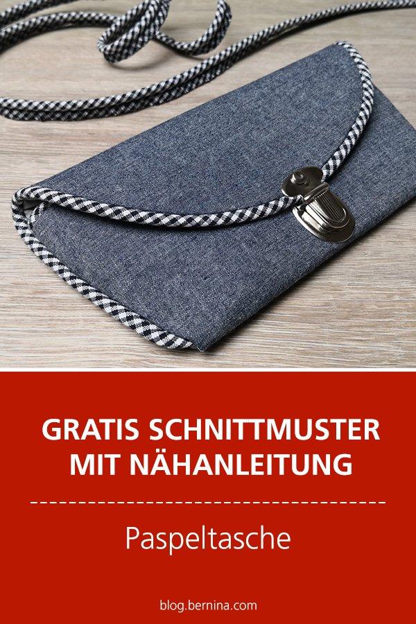 Gratis-Schnittmuster & Nähanleitung:  Paspeltasche