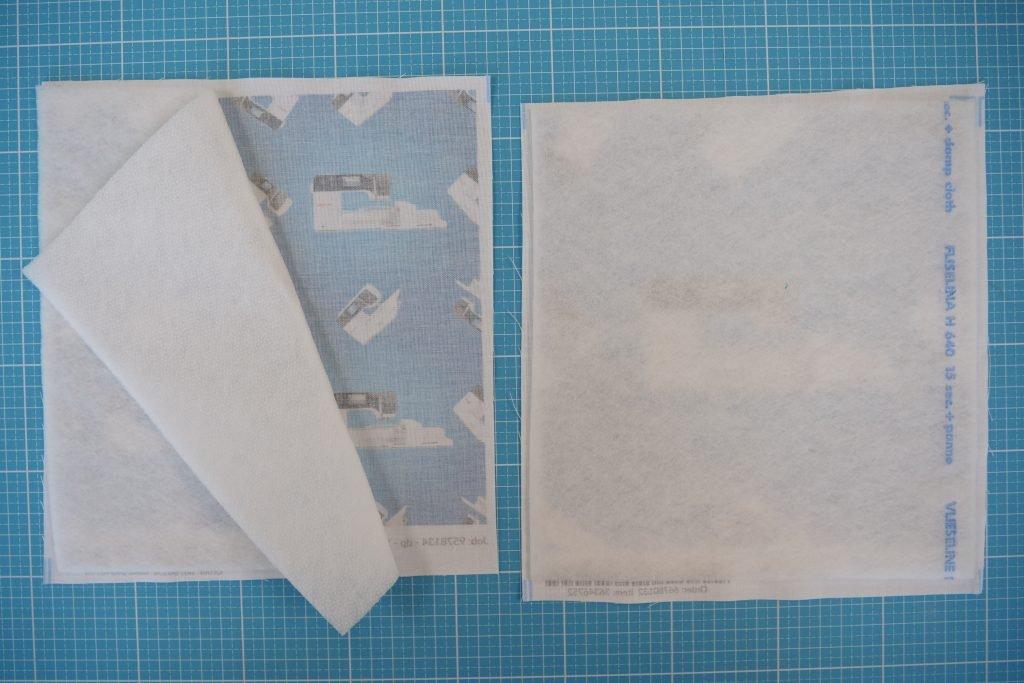 Täschchen mit BERNINA Stoff: Volumenvlies aufbügeln
