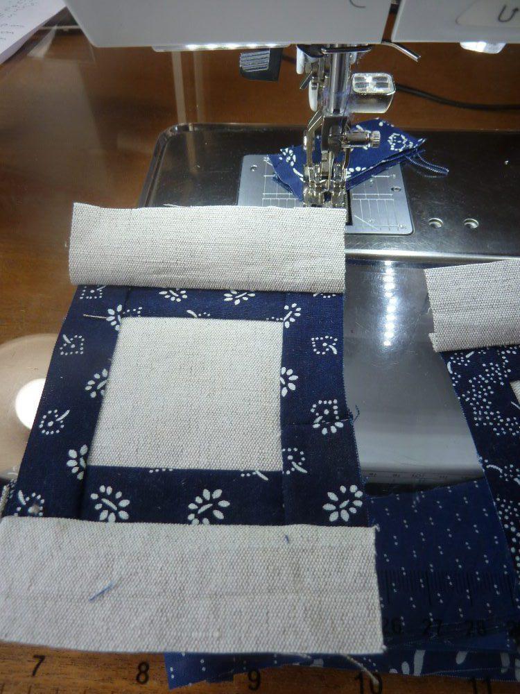 Blaudruck trifft Leinen: Tischläufer nähen