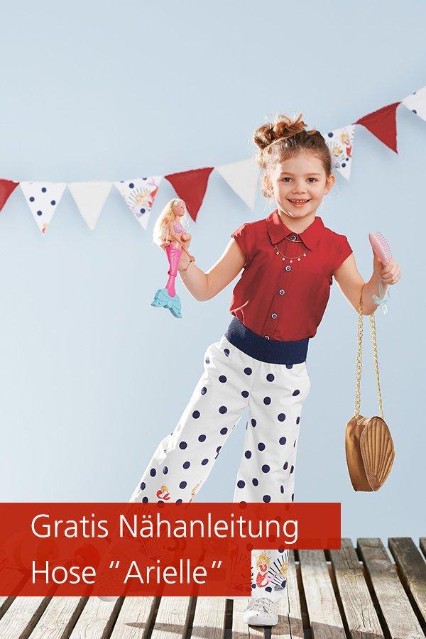 """Gratis-Schnittmuster & Nähanleitung: Kinder-Hose """"Arielle"""""""