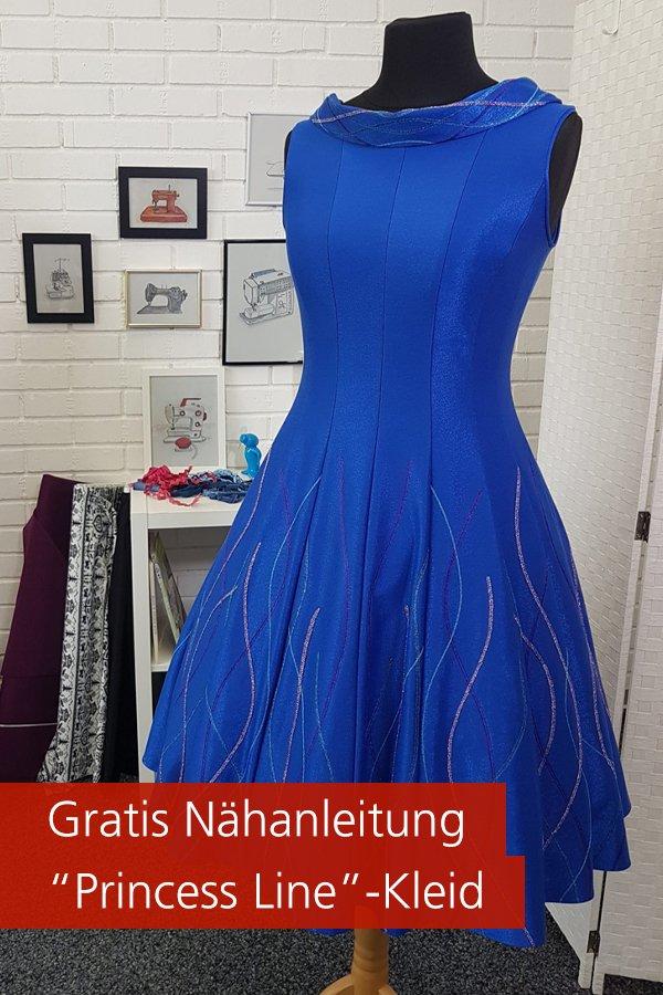 "Gratis-Schnittmuster & Nähanleitung: ""Princess Line""-Kleid"