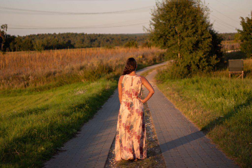 Kleid Charlotta fertig Rückansicht