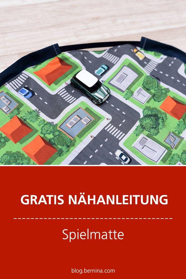 Gratis Nähanleitung: Spielmatte für Autos