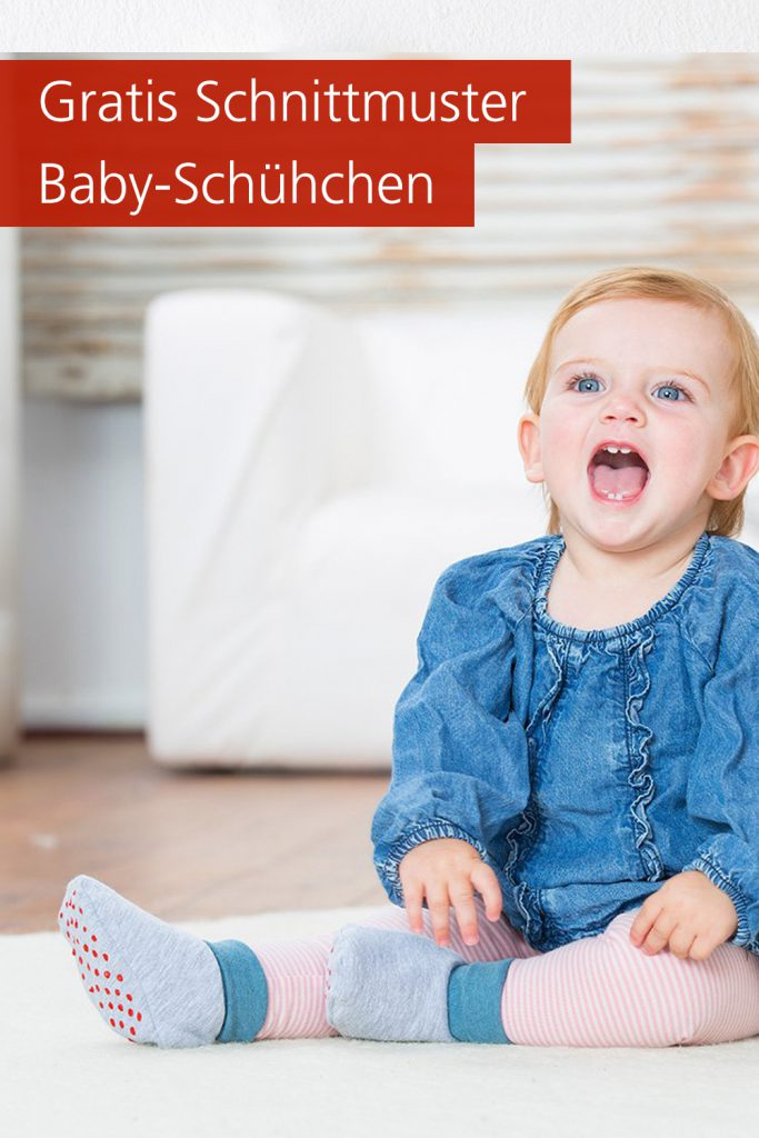 Gratis-Schnittmuster & Nähanleitung: Babyschühchen