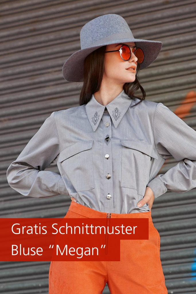 "Gratis-Schnittmuster & Nähanleitung: Bluse ""Megan"""