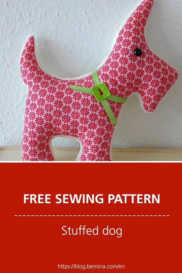 Free sewing pattern & instructions: Stuffed dog