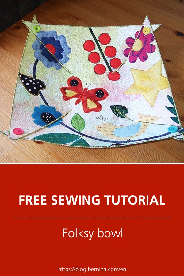 Free sewing tutorial: Folksy bowl