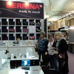 Hannah chats to prospective Bernina owners!