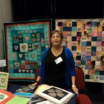 Ruth is a talented embroiderer and quilter.  She uses Bernina's V7 Designer Plus digitizing program to create the exquisite works of art that are displayed here and in the exhibition.