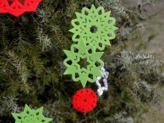 How to make beautiful Christmas tree pendants (with cutwork freebie)