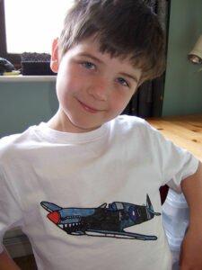 Euan-and-his-spitfire-t-shirt