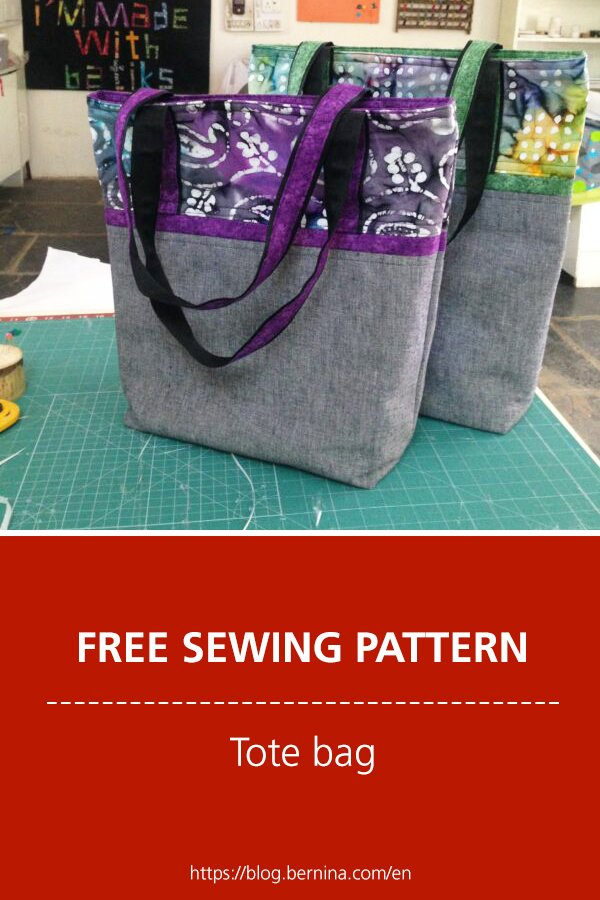 Free sewing pattern & instructions: Tote bag