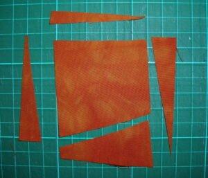 wie ein Quadrat schief geschnitten wird
