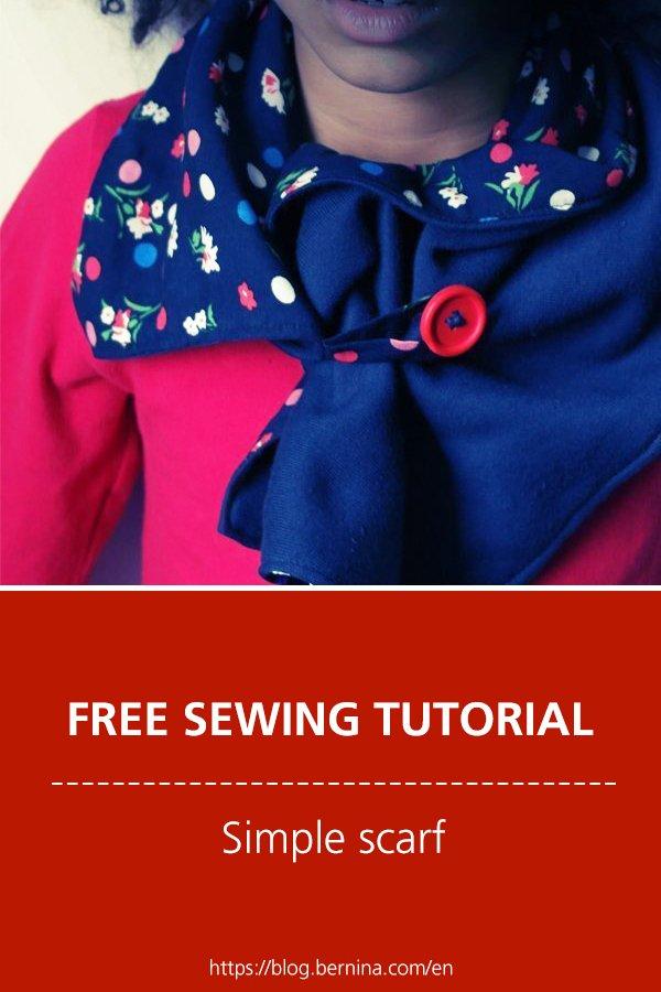 Free sewing tutorial: Simple scarf