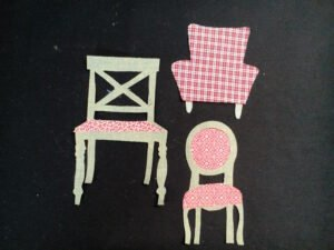 Cutouts of the chairs